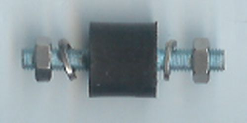 Engine mount bobbin (15 x 15mm) male/male 5mm stud
